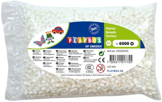 Zažehlovací korálky - 6 000 ks - bílé
