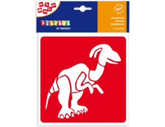Šablony 6 ks- dinosauři, 145x145 mm