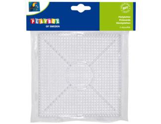 Destičky pro zažehlovací korálky čtverec 2 ks 15x15cm