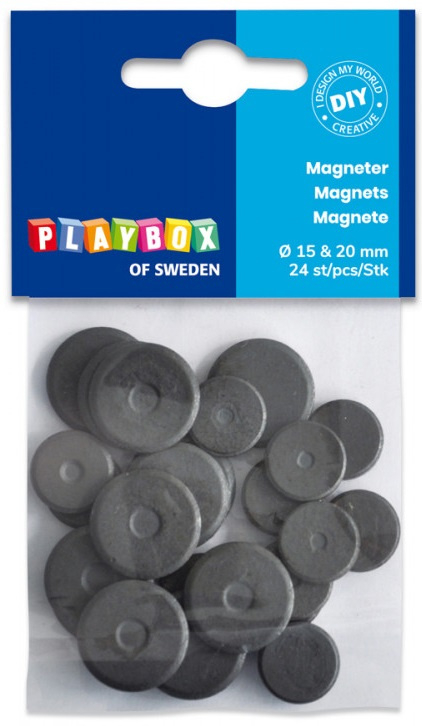 Magnety 24ks, 15mm a 20mm