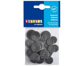 Magnety 24ks, 15mm a 20mm