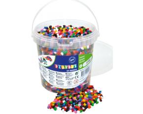 Zažehlovací korálky- 10.000 ks korálků- kbelík, základní barvy