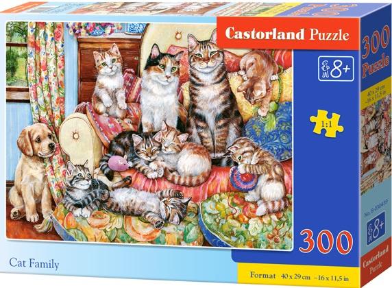 Puzzle 300 dílků - Kočičí rodina