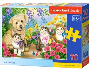 Puzzle Castorland 70 dílků premium - Nejlepší přátelé