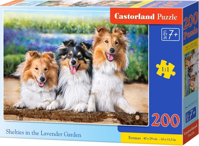 Puzzle Castorland 200 dílků premium - Kolie v Levandulové zahradě