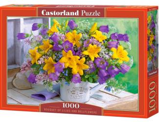 Puzzle Castorland 1000 dílků - Kytice lilii a zvonku