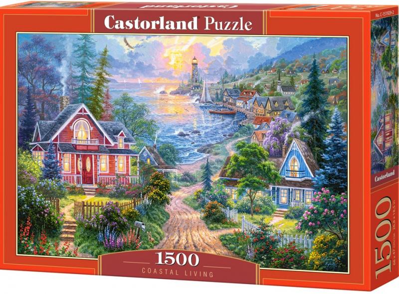 Puzzle Castorland 1500 dílků - Život na pobřeží