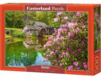 Puzzle Castorland 500 dílků - Mlýn u rybníka