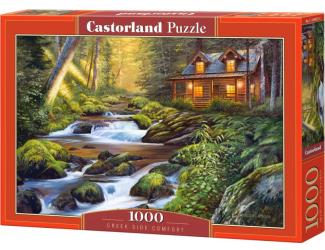 Puzzle Castorland 1000 dílků - Domek u řeky