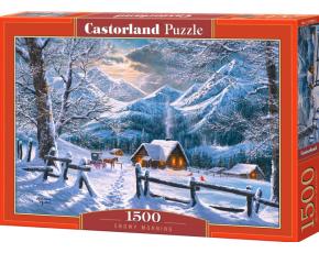 Puzzle Castorland 1500 dílků - Zasněžené ráno