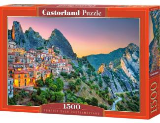 Puzzle Castorland 1500 dílků -  Východ slunce nad Castelmezzanem