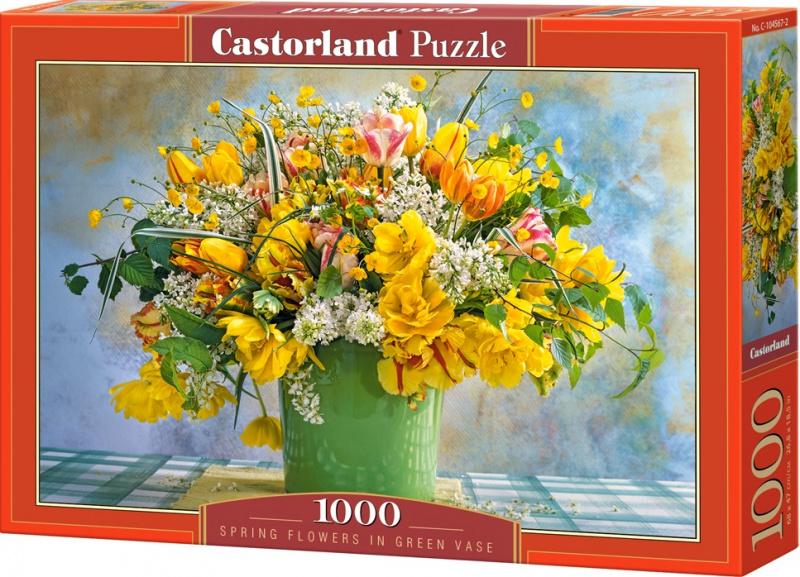 Puzzle Castorland 1000 dílků - Žluté květiny v zeleném květináči