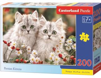 Puzzle Castorland 200 dílků premium - Koťata perské kočky
