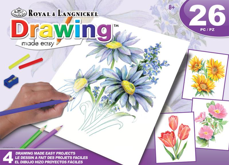 ROYAL and LANGNICKEL Sada malování pastelkami - květiny