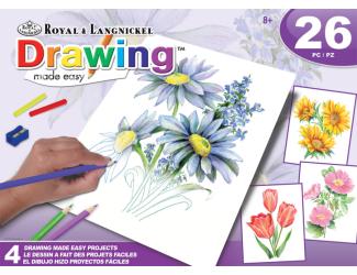 ROYAL and LANGNICKEL Kreslení pastelkami - květiny, 4 obrázky