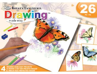 ROYAL and LANGNICKEL Kreslení pastelkami - motýli, 4 obrázky