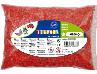 Zažehlovací korálky - 6 000 ks - červené