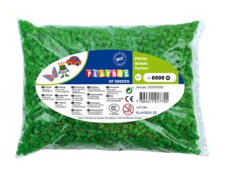 Zažehlovací korálky - 6 000 ks - zelené