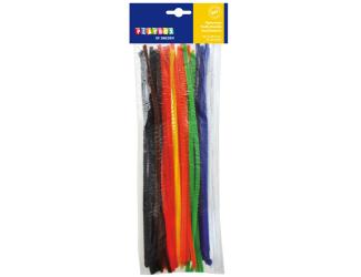 Chlupaté modelovací drátky, 30cm 50ks, tl.7mm základní barvy