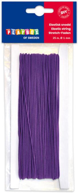 Gumička, 25 m x 1 mm - fialová