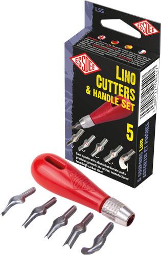 Sada pro linoryt - 5 různých nožů.