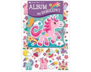 Album na samolepky 16x29 cm + 40 samolepek - pro holčičky