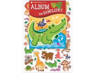 Album na samolepky 16x29 cm + 40 samolepek - zvířátka