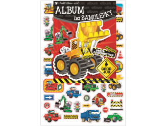 Album na samolepky 16x29 cm + 40 samolepek - stroje