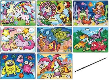 Kouzelné malování se štětcem 20x15cm, cena za 1ks,mix 8 obrázků