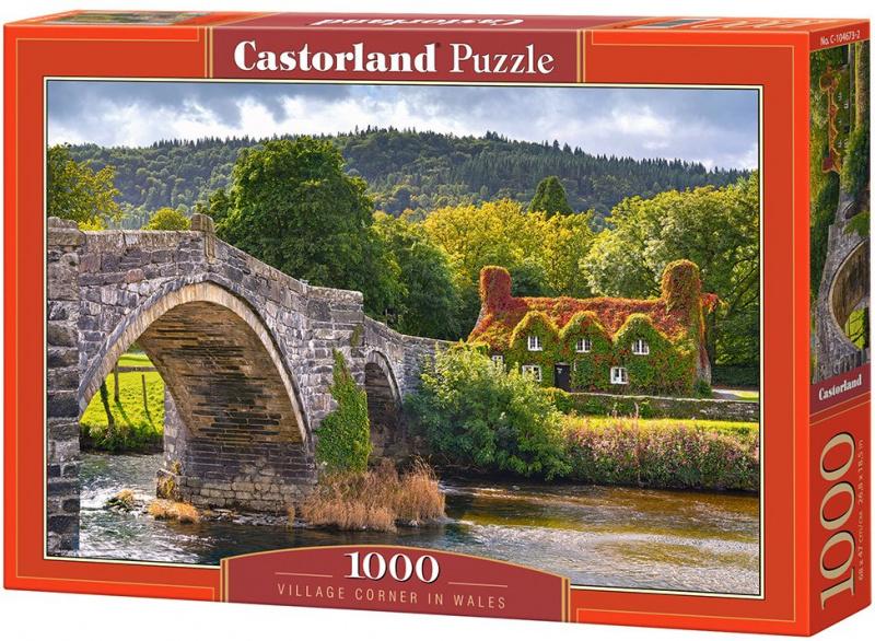 Puzzle Castorland 1000 dílků - Dům u řeky (Wales)