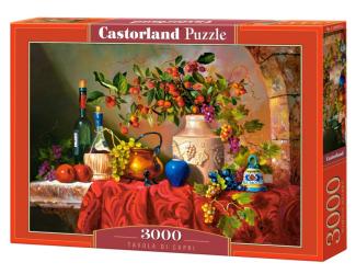 Puzzle Castorland 3000 dílků - Tavola di Capri (Zátiší s vínem)