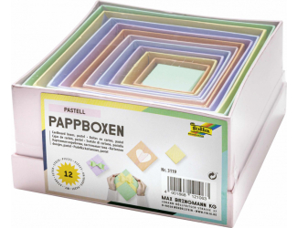 Kartonové krabičky - pastelové,12 ks