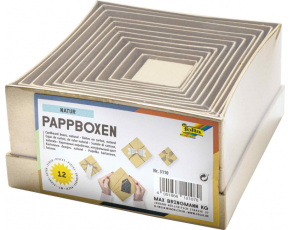 Kartonové krabičky-přírodní,12ks