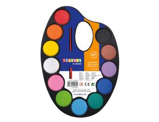 Vodové barvy - paleta 12 barev