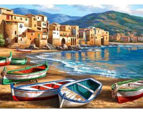 Malování podle čísel- Pobřežní pláž