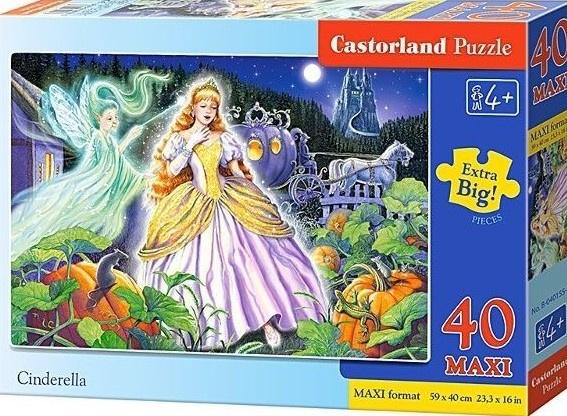 Puzzle Castorland MAXI 40 dílků - Popelka - c0040*40155