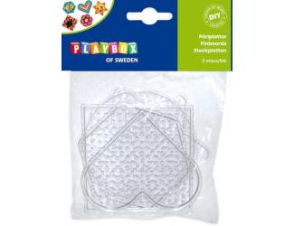 Destičky pro zažehlovací korálky 5ks - srdce, kolečko, hvězda, čtverec, šestiúhelník