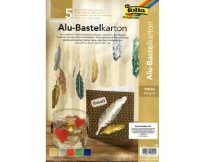 Hliníková folie 300g/m2 A4, 5 barevných listů