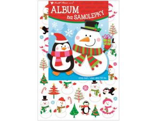 Album na samolepky 16x29 cm + 50 samolepek - sněhuláci