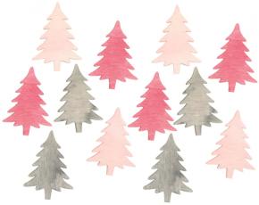 Dřevěné stromečky 4 cm 12 ks