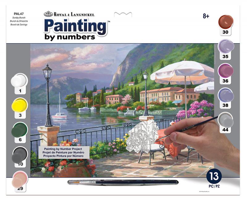 Malování podle čísel - Pohoda u jezera