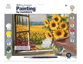 Malování podle čísel - Slunečnice - Royal Langnickel