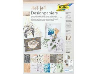 Designové papíry s leskem 12ks A4