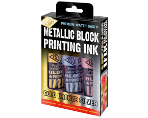 Metalické barvy na linoryt ESSDEE 3x100ml