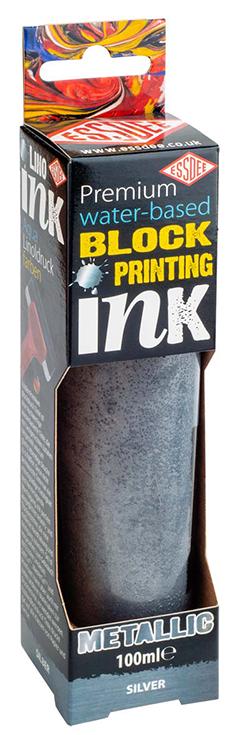 Matalická barva na linoryt ESSDEE 100ml stříbrná