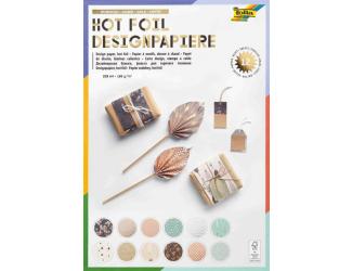 Designové papíry- blok HOT FOIL- 165g/m2
