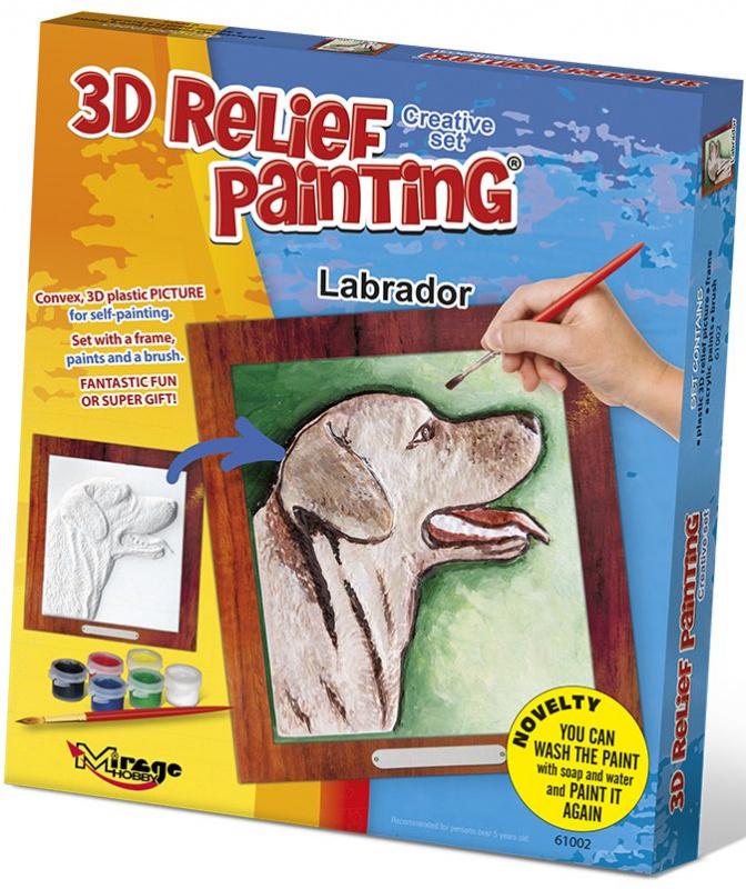 3D reliéfní obrázek 19x21cm Labrador