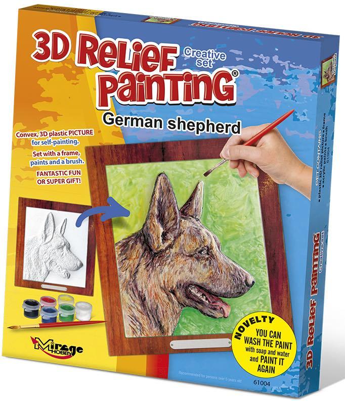 3D reliéfní obrázek 19x21cm Německý vlčák