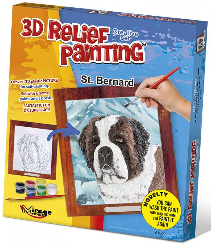 3D reliéfní obrázek 19x21cm Bernardýn