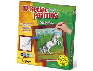 3D reliéfní obrázek 19x21cm Kůň - Andalusian